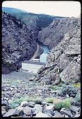 Dam site on Gunnison River (Black Canyon)<br /> D&amp;RGW  Gunnison River Dam, Black Canyon, CO
