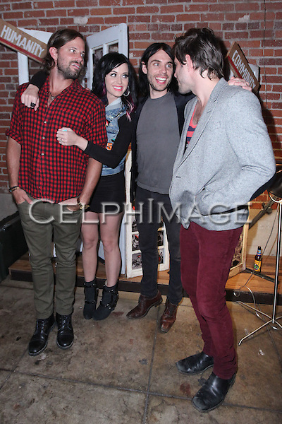 RICKY JACKSON, KATY PERRY, SVEND LERCHE, RAN JACKSON.  CD release party of the self-titled debut of Los Angeles trio, The Daylights, at Club L in West Hollywood, CA, USA. ©CelphImage