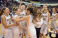 Archbishop Wood celebrates after defeating Villa Maria to win the girls basketball PIAA Class AAA state championship Saturday March 19, 2016 at the Giant Center in Hershey, Pennsylvania (Photo By William Thomas Cain)