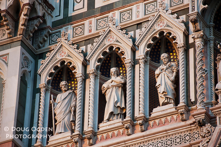 Detail of the Facade, Doumo, Florence, Italy