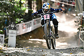 10th September 2017, Smithfield Forest, Cairns, Australia; UCI Mountain Bike World Championships; Myriam Nicole (FRA) riding for Commencal / Vallnord on her way to second place in the elite womens downhill race;