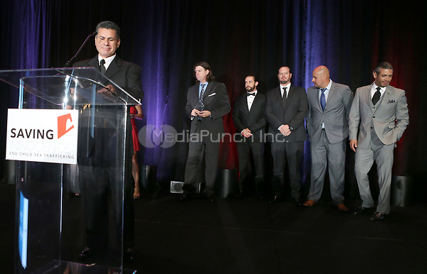 HOLLYWOOD, CA - SEPTEMBER 30: LAPD Sex Traffic Task Force, at The 6th Annual Saving Innocence Gala_Insde at Loews Hollywood Hotel, California on September 30, 2017. Credit: Faye Sadou/MediaPunch