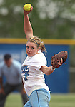 Centennial's Taylor Huntly pitches against Coronado during the state championship softball tournament at the University of Nevada, Reno, in Reno, Nev., on Saturday, May 20, 2012. Centennial defeated Coronado 13-3 and 11-0 to win the 4A title..Photo by Cathleen Allison