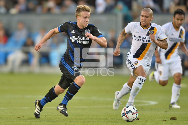 San Jose, CA - Monday July 10, 2017: Tommy Thompson during a U.S. Open Cup quarterfinal match between the San Jose Earthquakes and the Los Angeles Galaxy at Avaya Stadium.