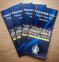 The Falkirk FC Player Fact File which contains details of all the young players and given to scouts who attend matches at The Falkirk Stadium.