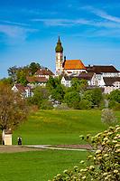 Deutschland, Bayern, Oberbayern, Andechs: Kloster Andechs | Germany, Bavaria, Upper Bavaria, Andechs: monastery Andechs