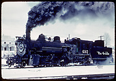 D&amp;RGW #492 resting in the snow while the engineer lubricates the drive train.<br /> D&amp;RGW