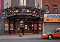 The Canon Theatre is pictured on Younge street in Toronto April 19, 2010. Designed by the great theatre architect Thomas W. Lamb, The Canon Theatre is a historic theatre in Toronto.