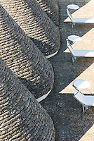 Aerial view of the cone-shaped roofs typical of the 'trulli', the characteristic building of Puglia