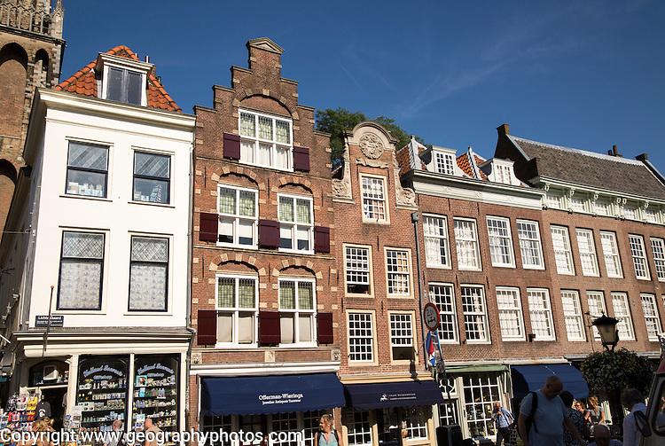 Historic merchant houses in central  Utrecht, Netherlands