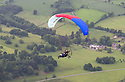 01/07/15<br /> <br /> Injured veteran David Chambers (back seat) is flown by Neil Laughton over Okeover Hall in the Derbyshire Peak District.<br />  <br /> <br /> *** FULL STORY HERE: <br /> http://www.fstoppress.com/articles/flying-for-heroes/  ***<br /> <br /> A special aircraft adapted to be flown by wounded, injured and sick servicemen took to the skies for the first time above Britain today.<br /> <br /> The two-seater para-trike is one of three similar aircraft operated by Flying For Heroes that are currently based at Darley Moor Airfield, Ashbourne, Derbyshire.<br /> <br /> Ten wounded servicemen took to the controls of this, and many other aircraft, during a two-day flying training camp hosted by Airways Airsports.<br /> <br /> *** FULL STORY HERE:  http://www.fstoppress.com/articles/flying-for-heroes/  ***<br /> <br /> All Rights Reserved: F Stop Press Ltd. +44(0)1335 418629   www.fstoppress.com.
