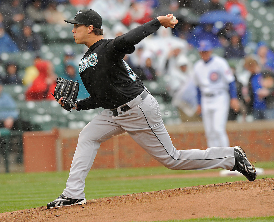 GRAHAM TAYLOR, of the Florida Marlins, in action  during the Marlins game against the Chicago Cubs  on May 1 2009 in Chicago, Illinois  Cubs beat  the Marlins 8-6.