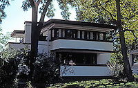 F.L. Wright: Mrs. Thomas H. Gale House, 6 Elizabeth Ct., Oak Park. 1909.  Photo '76.