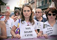 La protesta dei NO Muos  a Palermo