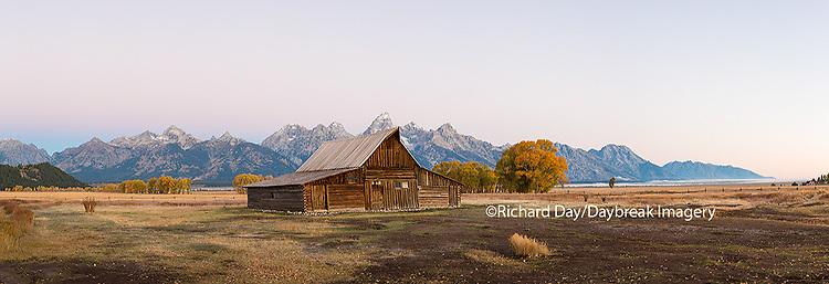 67545-08808 Sunrise at T.A. Moulton Barn, Grand Teton National Park, WY