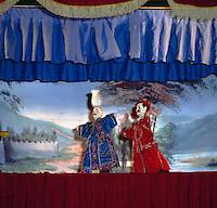 Chinese puppet show. Hong kong 1979.