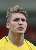 Lyanco (Captain) of Brazil during the International match between England U20 and Brazil U20 at the Aggborough Stadium, Kidderminster, England on 4 September 2016. Photo by Andy Rowland / PRiME Media Images.