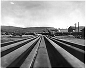 Construction of new loop in Durango yard.  View over the rails.<br /> D&amp;RGW  Durango, CO  Taken by Payne, Andy M. - 4/30/1968