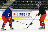 David Musil (Czech Republic - 6), Andrej Nestrasil (Czech Republic - 27) - Team Czech Republic practiced at the Urban Plains Center in Fargo, North Dakota, on Saturday, April 18, 2009 in the morning prior to their final match against Sweden during the 2009 World Under 18 Championship.