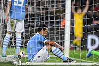 7th November 2019, Rome, Italy; UEFA Europa League football , group stages, Lazio versus Glasgow Celtic;  Dejection from Luis Felipe of Lazio as his team go behind in the 95th minute - Editorial Use