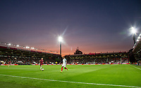 General view of play as the sunsets during the UEFA EURO U-21 First qualifying round International match between England 21 and Latvia U21 at the Goldsands Stadium, Bournemouth, England on 5 September 2017. Photo by Andy Rowland.