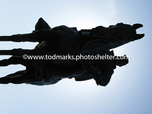 Stonewall Jackson in silhouette, Mannassas, Va.