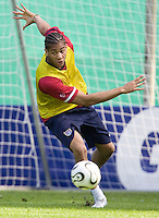 USA's  Oguchi Onyewu during practice in Hamburg, Germany, for the 2006 World Cup, June, 9, 2006.