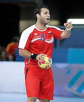 Egypt's Mohamed Alaa during 23rd Men's Handball World Championship preliminary round match.January 15,2013. (ALTERPHOTOS/Acero) /NortePhoto