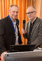 NCBC President Mark Deakin (left) with keynote speaker Radio Consultant David Lloyd