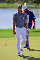 Justin Thomas (USA) after sinking his putt on 6 during round 2 of the Honda Classic, PGA National, Palm Beach Gardens, West Palm Beach, Florida, USA. 2/24/2017.<br /> Picture: Golffile | Ken Murray<br /> <br /> <br /> All photo usage must carry mandatory copyright credit (&copy; Golffile | Ken Murray)