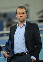 FUSSBALL   CHAMPIONS LEAGUE   SAISON 2011/2012  Achtelfinale Rueckspiel 14.03.2012 Real Madrid  - ZSKA Moskau  Co-Bundestrainer  der deutschen Nationalmannschaft Hans-Dieter Flick (Deutschland)