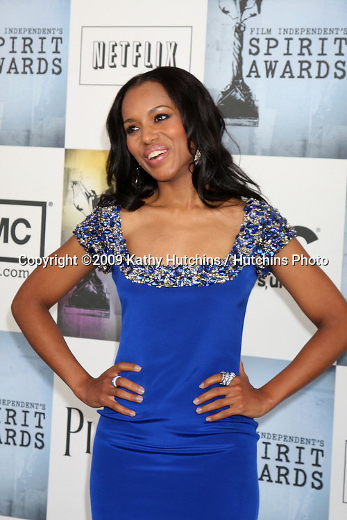 Kerry Washington arriving at the  Film Indpendent's  24th Annual Spirit Awards on the beach in Santa Monica, CA  on.February 21, 2009.©2009 Kathy Hutchins / Hutchins Photo...                .