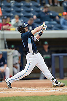 West Michigan Whitecaps designated hitter Will Allen (16) swings the bat against the Dayton Dragons on April 24, 2016 at Fifth Third Ballpark in Comstock, Michigan. Dayton defeated West Michigan 4-3. (Andrew Woolley/Four Seam Images)