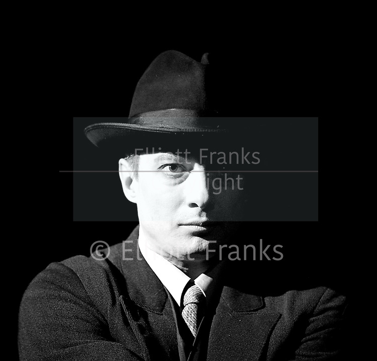 Three Comrades <br /> by Erich Maria Remarque <br /> Moscow Theatre <br /> Sovremennik <br /> at Piccadilly Theatre, London, Great Britain <br /> Press photocall <br /> 4th May 2017 <br /> <br /> Alexander Khovanskiy as Robert Lokhamp <br /> <br /> Sergey Yushkevich as Otto Koster <br /> <br /> Sergei Girin as Gottfried Lenz <br /> <br /> Chulpan Khamatova as Patrice Hollman <br /> <br /> <br /> Photograph by Elliott Franks <br /> Image licensed to Elliott Franks Photography Services