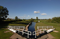 Lock gate on river Ure,Boroughbridge, North Yorkshire, England.