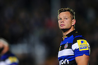 Chris Cook of Bath Rugby looks on during a break in play. Aviva Premiership match, between Bath Rugby and Sale Sharks on October 7, 2016 at the Recreation Ground in Bath, England. Photo by: Patrick Khachfe / Onside Images