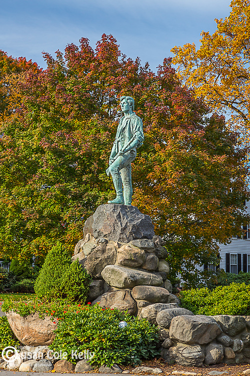 Minuteman statue in Lexington, Massachusetts, USA