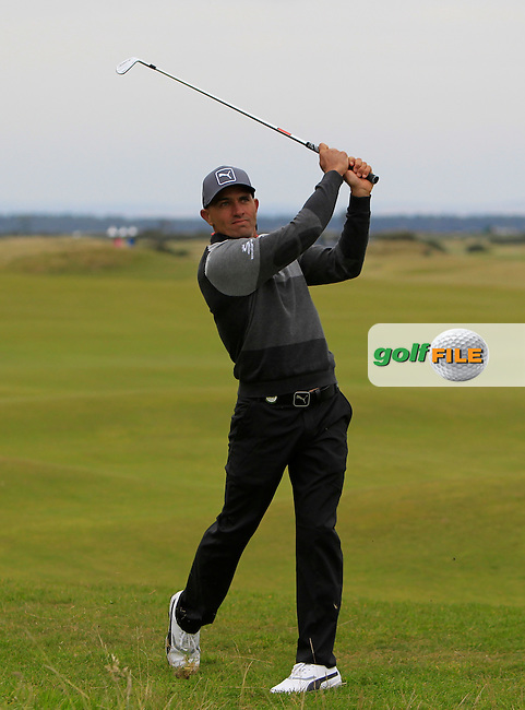 Kelly Slater (AM) on the 17th fairway during the 2015 Alfred Dunhill Links Championship at the Old Course in St. Andrews in Scotland on 4/10/15.<br /> Picture: Thos Caffrey | Golffile