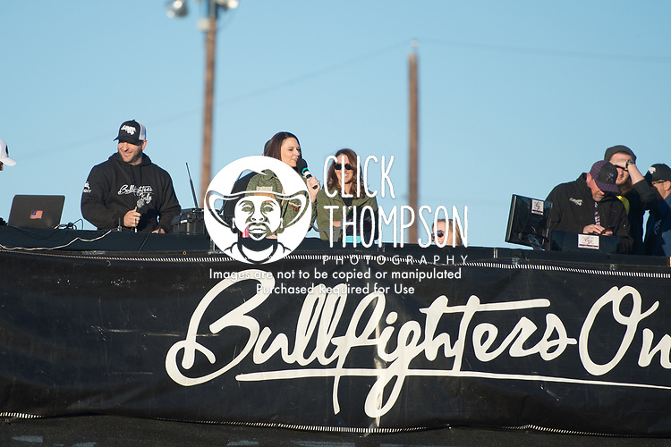 Radio Host Welcome during the Bullfighters Only Bulltoberfest event in Austin, TX - 10.28.2017. Photo by Christopher Thompson