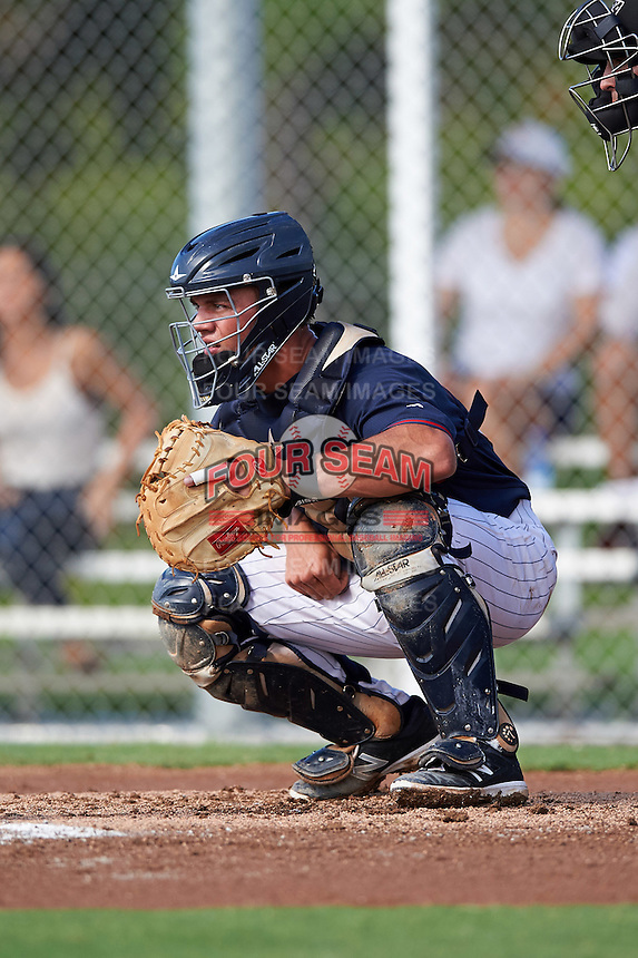 Minnesota Twins catcher Ben Rortvedt (68) during an Instructional League game against the Boston Red Sox on September 24, 2016 at CenturyLink Sports Complex in Fort Myers, Florida.  (Mike Janes/Four Seam Images)
