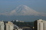 Mt. Rainier overlooking Seattle Skyline.  ©2014. Jim Bryant Photo. All Rights Reserved.