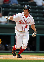 May 8, 2008: Ryan Kalish (2) of the Greenville Drive, Class A affiliate of the Boston Red Sox, in a game against the Rome Braves at Fluor Field at the West End in Greenville, S.C. Photo by:  Tom Priddy/Four Seam Images