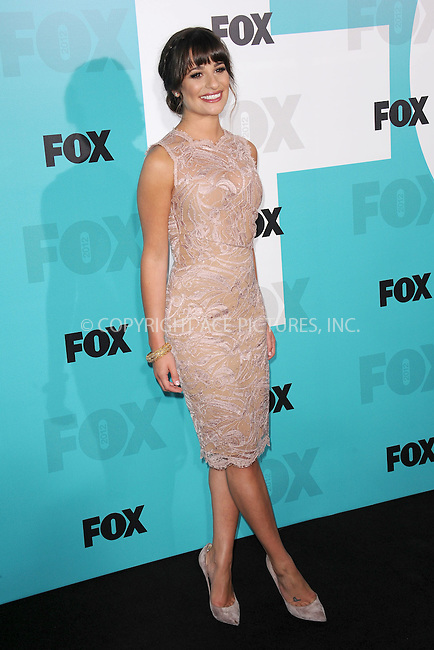 WWW.ACEPIXS.COM . . . . . .May 14, 2012...New York City....Lea Michele attending the 2012 FOX Upfront Presentation in Central Park on May 14, 2012  in New York City ....Please byline: KRISTIN CALLAHAN - ACEPIXS.COM.. . . . . . ..Ace Pictures, Inc: ..tel: (212) 243 8787 or (646) 769 0430..e-mail: info@acepixs.com..web: http://www.acepixs.com .