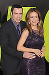 WESTWOOD, CA - JUNE 25: John Travolta and Kelly Preston arrive at the Los Angeles premiere of 'Savages' at Mann Village Theatre on June 25, 2012 in Westwood, California.