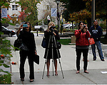 "Some take photos of those on the Capitol steps during #NevadaSings!, a statewide sing-a-long of ""Home Means Nevada."" Approximately 370 people took part  in the Carson City portion of the event, which seeks to establish a new record for the most people in an American state to sing their state song at the same time."