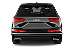 Straight rear view of 2016 Audi Q7 S Line 5 Door Suv Rear View  stock images