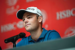 Martin Kaymer during the Press conference Mission Hills World Celebrity Pro-Am at the Dongguang Mission Hills Golf Club on October 30, 2012, in China's province of Canton. Photo by Xaume Olleros / The Power of Sport Images for Mission Hills