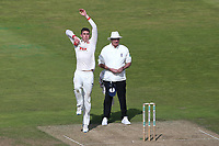 Daniel Lawrence in bowling action for Essex during Warwickshire CCC vs Essex CCC, Specsavers County Championship Division 1 Cricket at Edgbaston Stadium on 11th September 2019