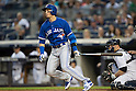 Troy Tulowitzki (Blue Jays),<br /> AUGUST 7, 2015 - MLB :<br /> Troy Tulowitzki of the Toronto Blue Jays at bat during the Major League Baseball game against the New York Yankees at Yankee Stadium in the Bronx, New York, United States. (Photo by Thomas Anderson/AFLO) (JAPANESE NEWSPAPER OUT)