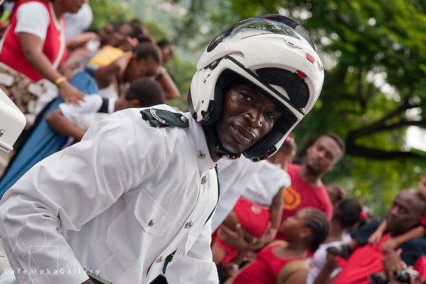 Policeman,Independence Day 2010, Port of Spain parade outside NAPA